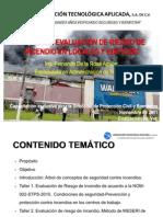 TALLER DE EVALUACIÓN DE RIESGO DE INCENDIO EN