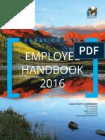 Eagle County Employee Handbook 2016