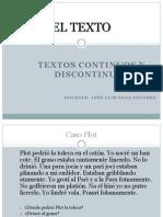 Textos Continuos y Discontinuos - Domingo Tarde