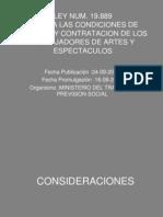 Contratacion de Los Trabajadores de Arte y Espectaculos