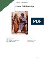 Trabalho História Educação Grega