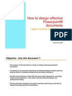 How to design effective Powerpoint document ?