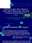 LBI RESOURCE How to Lower Your Taxes as a Home Based Business Owner With LCD