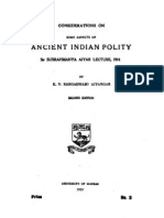 Considerations on Some Aspects of Ancient Indian Polity