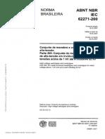 NBR IEC 62271-200 - Conjunto de manobra de alta tensão - em involucro metalico para tensões acima de 1kV até e inclusive 52kV