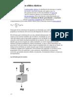Ley de Hooke en sólidos elásticos