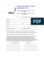 2012 Coop Vendor Application