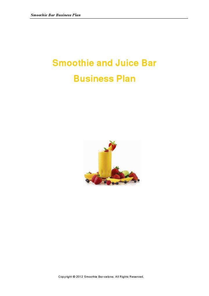Juice centre business plan
