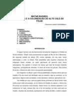 MATAR BUGRES - XOKLENG E A COLONIZAÇÃO DO ALTO VALE DO ITAJAÍ