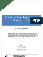 Installation Cluster 2003
