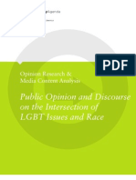 Public Opinion and Discourse on the Intersection of LGBT Issues and Race