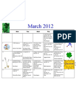 Shortcut to March 12 Calendar