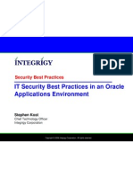 Integrigy Oracle Security Best Practices