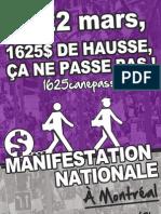 Affiche 4 Manifestation nationale 22 mars 2012