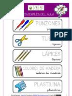 Carteles Materiales Del Aula (Arasaac)