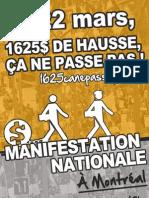 Affiche 3 - Manifestation nationale 22 mars 2012