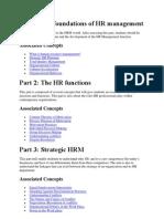 HR Management - Basic Questions