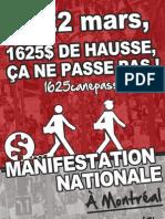 Affiche 1 - Manifestation nationale 22 mars 2012