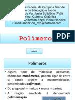 Aula 11 Polímeros
