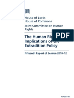 The Human Rights Implications of UK Extradition Policy
