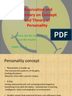 Observation and Summary on Concept and Theory Of
