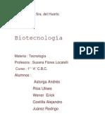 informe biotecnologia