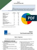 TEAS v Summary Packet