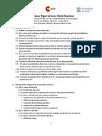 Agenda Sistemas Operativos Distribuidos 2