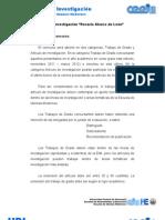 """Concurso de investigación """"Rosario Alonzo de León"""" Bases del concurso"""