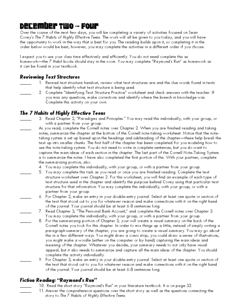 Workbooks text structure practice worksheets : Master Packet