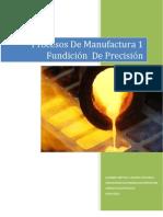 FUNDICIÓN DE PRECISIÓN