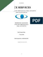 Ace Services Business Plan