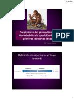 06. Homo Habilis as Liticas y Homo Erectus