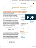 The Impact of Using an Erp System on Organizational Processes and Individual Employees of an Italian Regional Government Organization - Term Papers - Bbenedetta