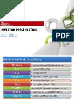 SIB Investor Presentation - Dec 2011 (FINAL Online)