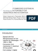 Embedded Systems in Advanced Automobile for Assistance and Automation