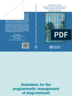 WHO MDR-TB Guidelines. Update 2008