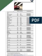 Model Price List