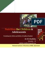 Nutrition for Children & Adolescents_Dr MSR