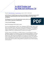 What is New in ABAP Testing and Troubleshooting With SAP NetWeaver 7