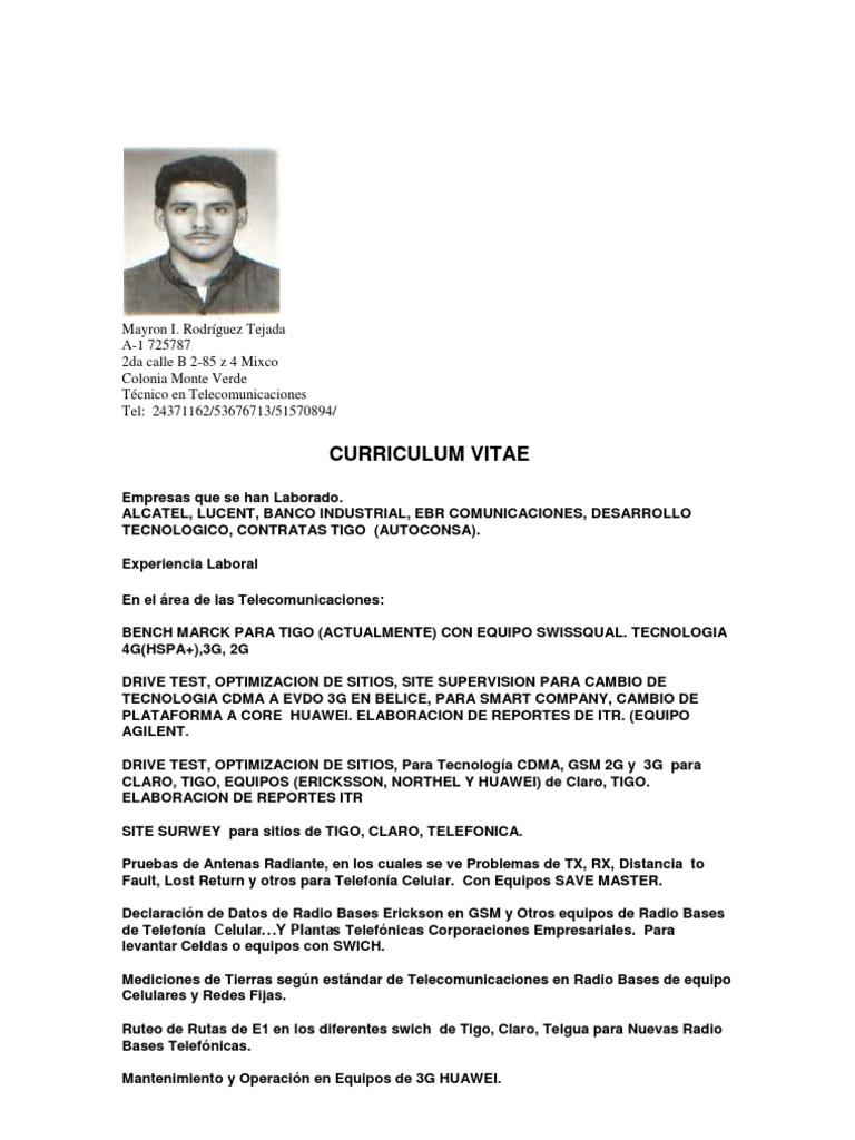 Curriculum Mayron Rodriguez