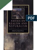 Cambridge Companion American Realism and Naturalism