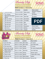 Sa Sa 34th Anniversary Beauty Dip Week 2 Winner List