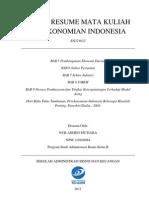 Tugas Resume Mata Kuliah Perekonomian Indonesia