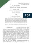Economic Growth and Human Development
