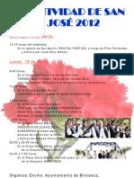 2012 CARTEL FIESTA SAN JOSÉ