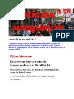 Noticias Uruguayas Viernes 16 de Marzo de 2012