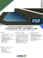 Testequipmentshop.com Aaronia AG Antennas and Sensors TES HyperLog 70xx Datasheet