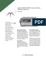 Testequipmentshop.com Agilent Arbitrary-Waveform-Generator TES-33220A Datasheet