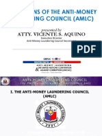 Operations of the Anti-Money Laundering Council by Atty. Vicente S. Aquino (March 16, 2012)
